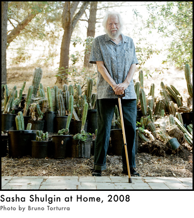 Sasha Shulgin at Home, 2008. Photo by Bruno Torturra